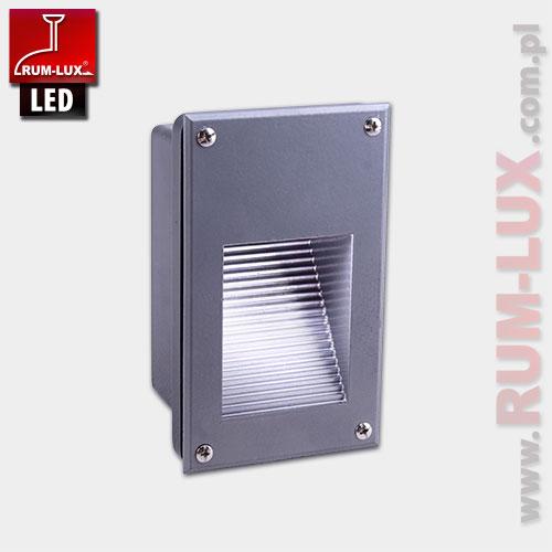Oprawa LED-15 fasadowa [światło białe | obudowa szara]